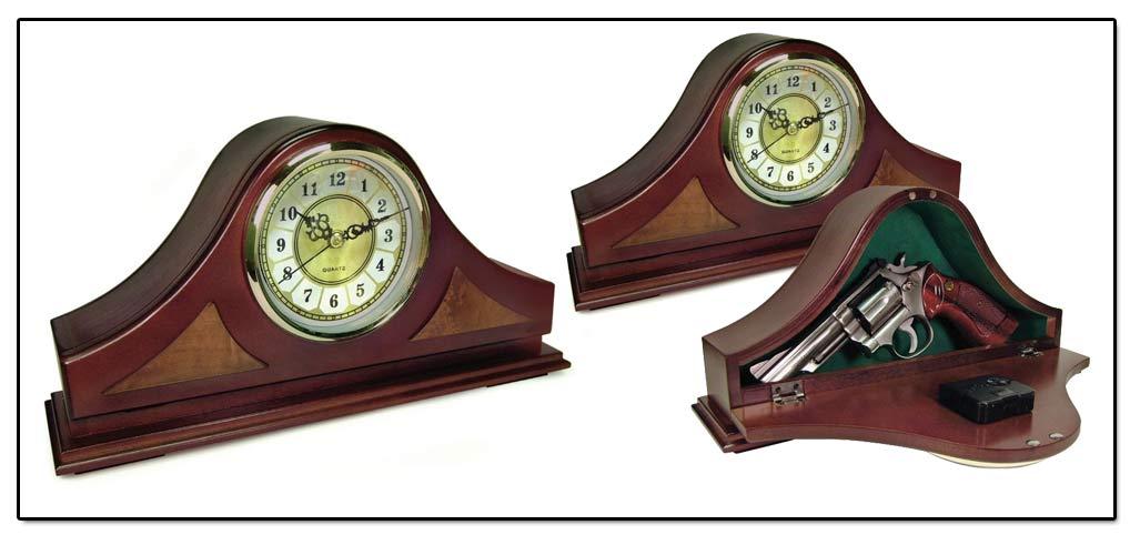 Concealment Secret Compartment Wood Clocks