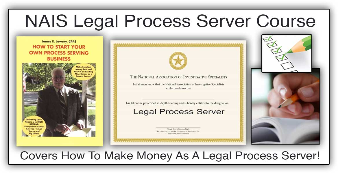 Legal Process Server Investigator Course With Comprehensive Page ...