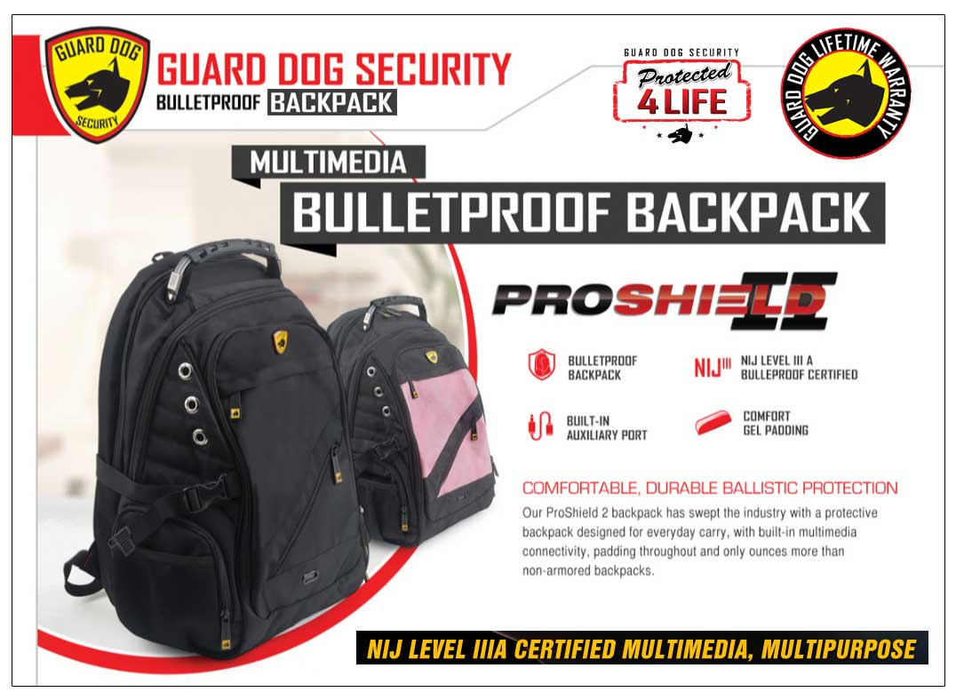 Guard dog bulletproof multimedia backpack guard dog proshield ii bulletproof multimedia backpack fandeluxe Choice Image