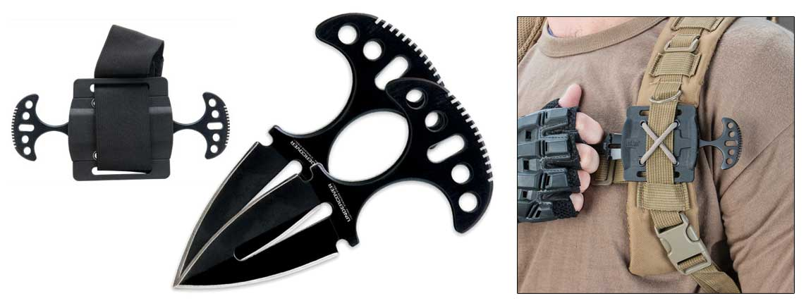 Cia Concealed Carry Undercover Ops Black Twin Push Daggers