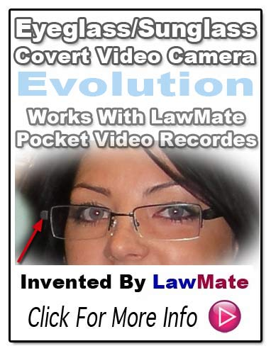LawMate Eyeglass/Sunglass Covert Video Camera