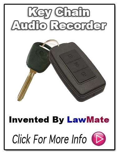 LawMate Keychain Audio Recorder