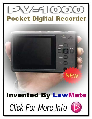 PV1000 Pocket Digital Video Recorder From LawMate
