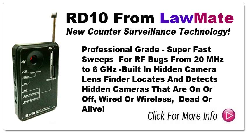 RD10 New Generation Bug Sweeper And Hidden Camera Finder