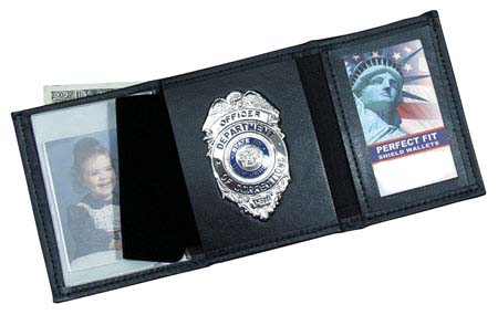 Badge wallets with id windows for 2 id window wallet