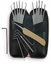 how to use majestic lock pick set